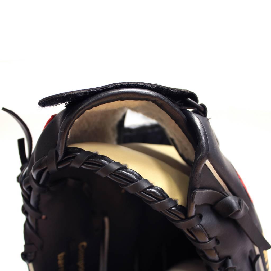 """JL-120 Guantone in vinile da baseball, outfield, 12"""", nero"""
