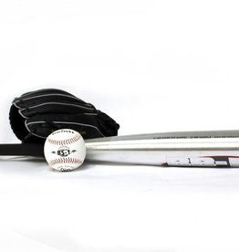 BGBA-3 Set da baseball principianti, youth - Mazza in alluminio, guantone, palla (BB-1 28'', JL-102 10,25'', BS-1 9'')