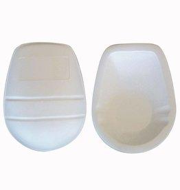 FKP-03 Protezione ginocchia, taglia unica, bianco