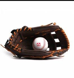 """GL-125 Guantone da baseball, competizione, outfield, vera pelle, 12.5"""", Marrone"""