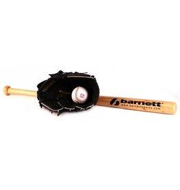 BGBW-1 Set da baseball principianti, senior - Mazza in legno, guantone, palla (BB-W 32'', JL-120 12'', TS-1 9'')