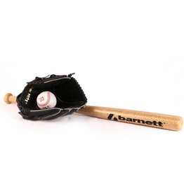 BGBW-3 Set da baseball principianti, youth - Mazza in legno, guantone, palla (BB-W 25'', JL-102 10,25'', TS-1 9'')