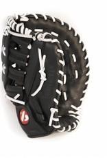 Barnett GL-301 concorrenza 1er baseball guanto da baseball, cuoio genuino, adulto, nero