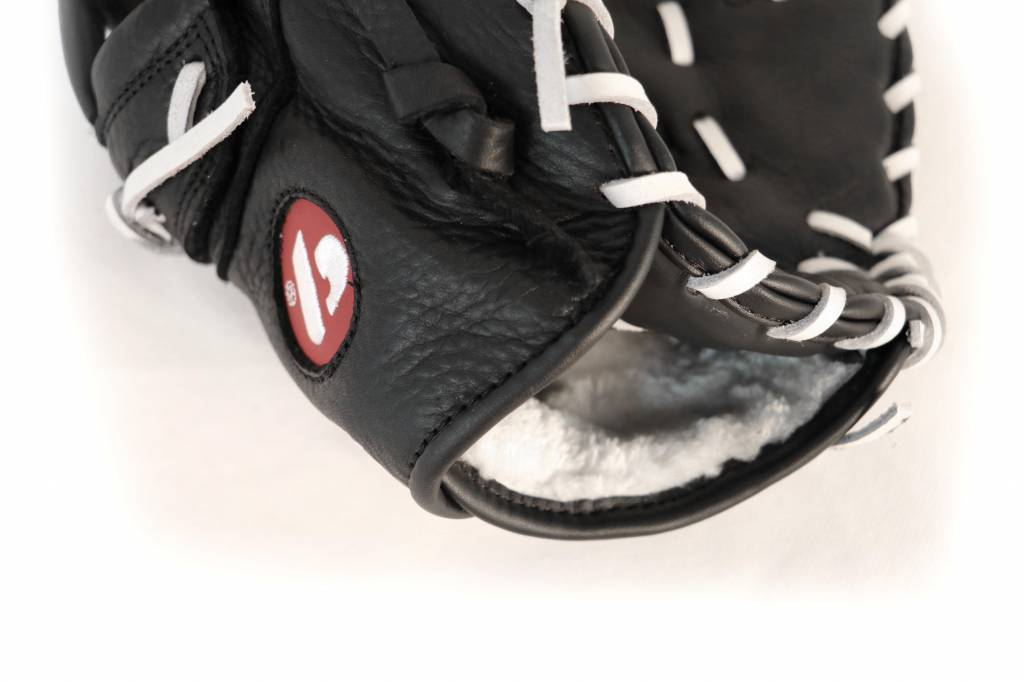 barnett Barnett GL-301 concorrenza 1er baseball guanto da baseball, cuoio genuino, adulto, nero