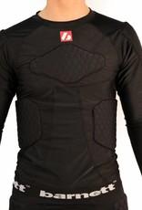 barnett FKS-L kit, FS-08 compressione T-shirt con le maniche lunge + FS-07 pantaloni di compressione, 5 pezzi integrati, per il calcio americano