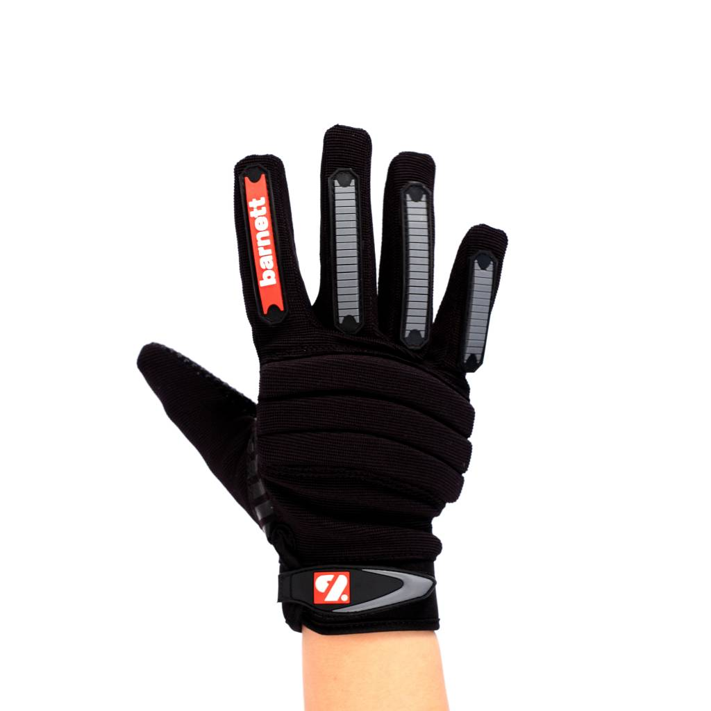 barnett FKG-02 Nueva generacion de guantes de fútbol americano para linebacker fit, LB,RB,TE, negro