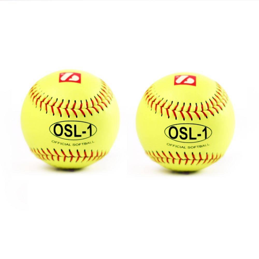 barnett OSL-1 Pelota de competición, sófbol, 12'', amarillo, 2 unidades