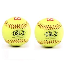 barnett OSL-2 Pelota de competición, sófbol , 12'', amarillo, 2 unidades
