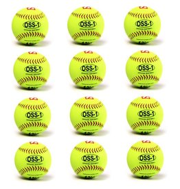 barnett OSS-1 Pelota de entrenamiento, sóftbol, 12'', amarillo, 1 docena