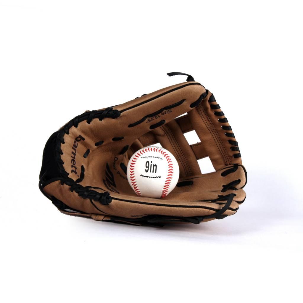 """barnett GBSL-1 Kit de béisbol guante, pelota cuero, senior (SL-127 12,7"""", LL-1 9"""")"""