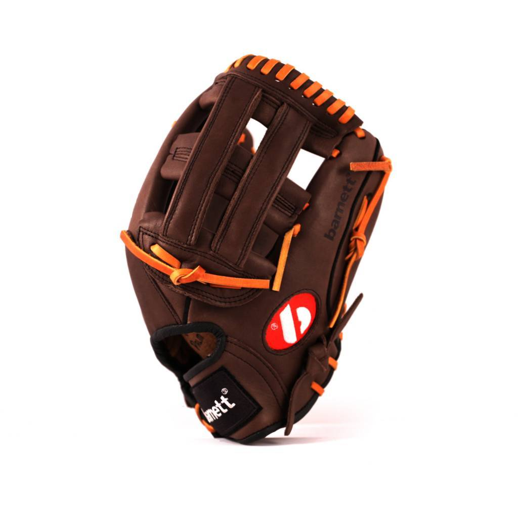 """barnett GL-120 Guante de beisbol cuero outfield 12"""", marrón"""