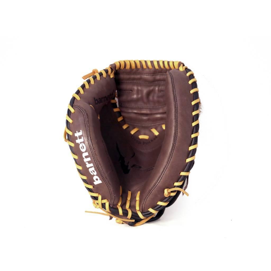 "barnett GL-202 Guante de béisbol, cuero, catcher, para adultos 34 "","