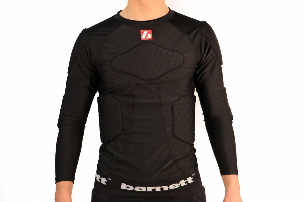 barnett FS-08 camiseta de compresión de manga larga, 5 piezas integrados, para el fútbol Americano