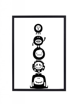 Poster 30x40 Monstertjes