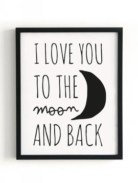 Poster 40x50 Moon