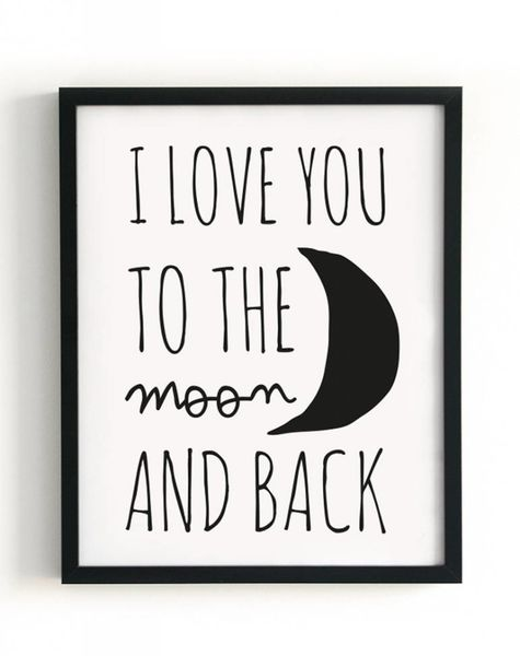 Poster A3 I love you to the moon and back