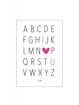 Poster A4 ABC I love you