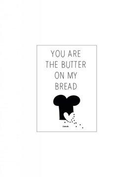 Kaart Butter on my bread