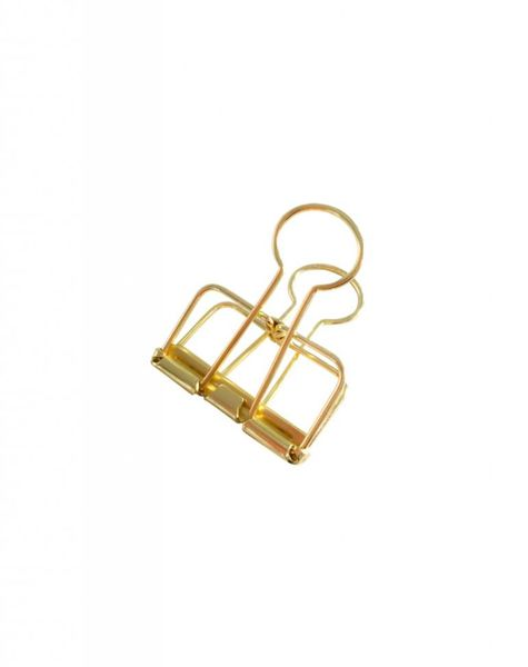Binder Clips Gold M