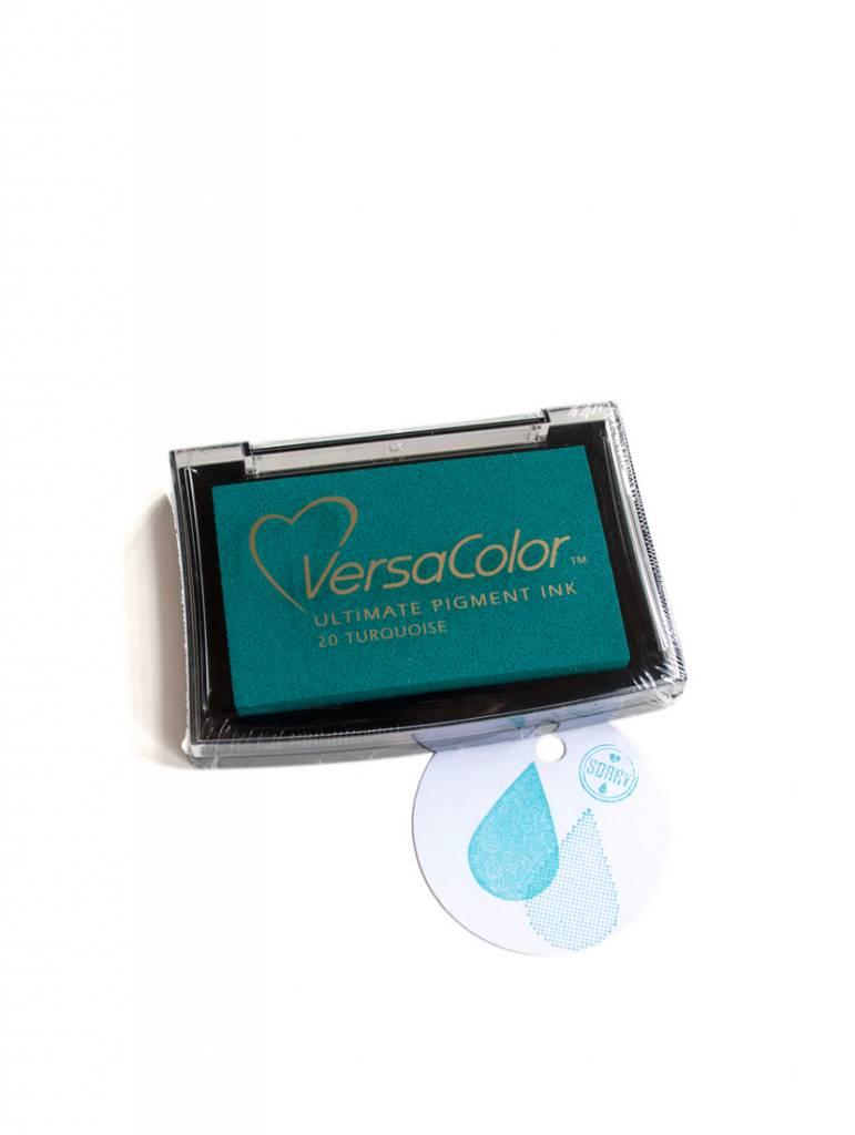 Inktkussen Turquoise large