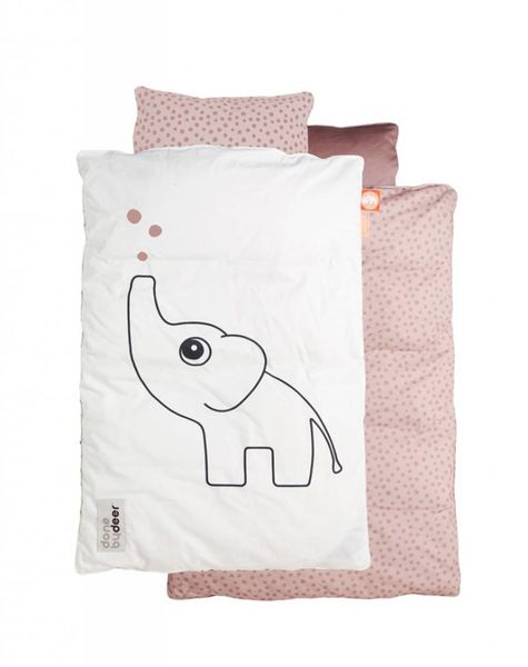 Bedset baby Elphee roze