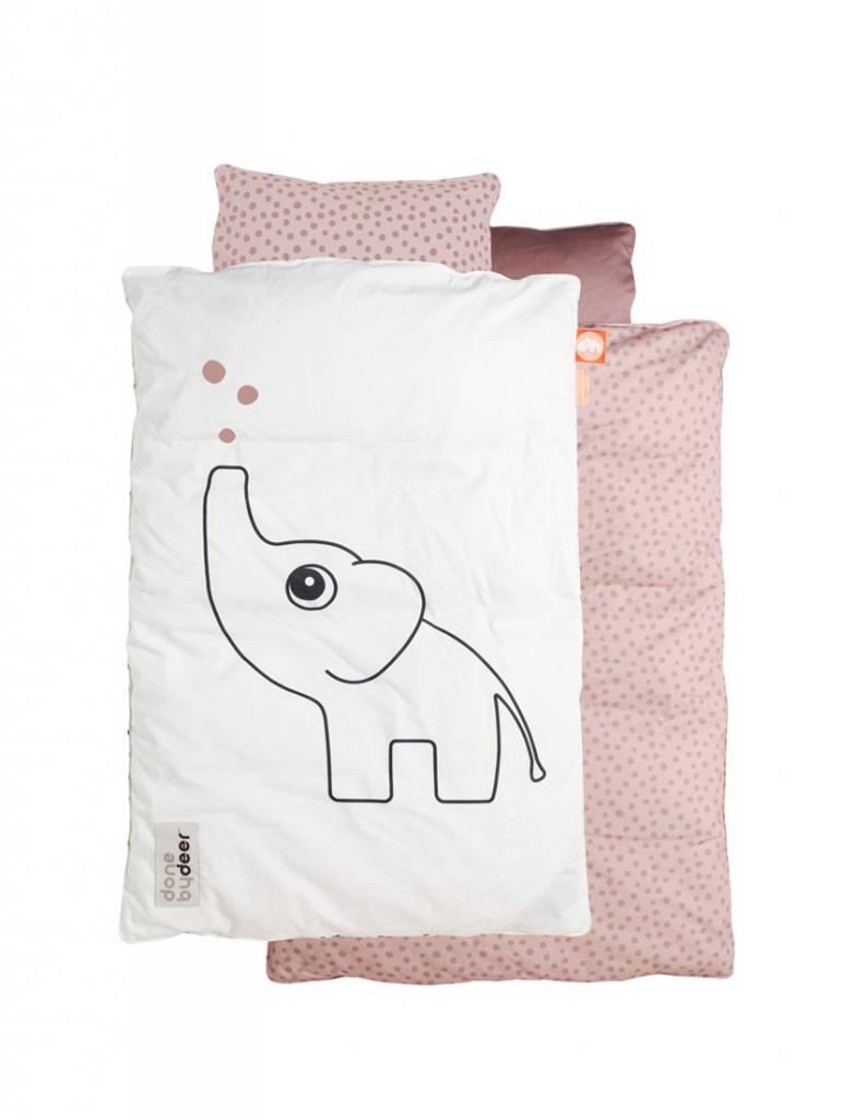 Bedset baby elphee roze van done by deer   vierjehuis