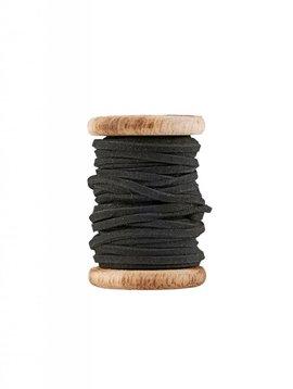 Ribbon leer zwart (5m)