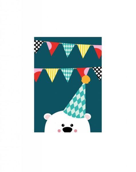 Verjaardagskaart beer