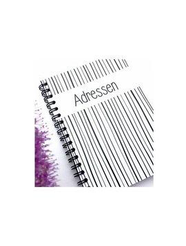 Adresboekje stripes A6