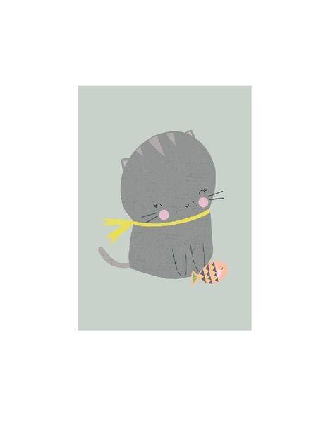 Kaart Kat met vis
