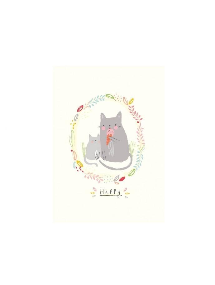 Kaart Happy cats