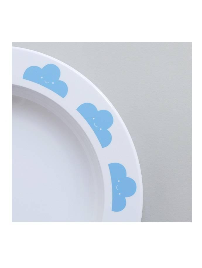 Bord blauwe wolkjes