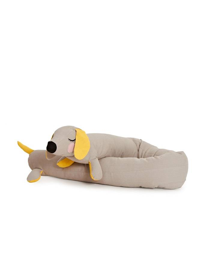 Kussen Teckel Lazy Long dog grijs