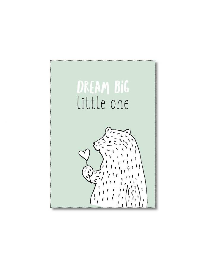 Kaart Dream big mint