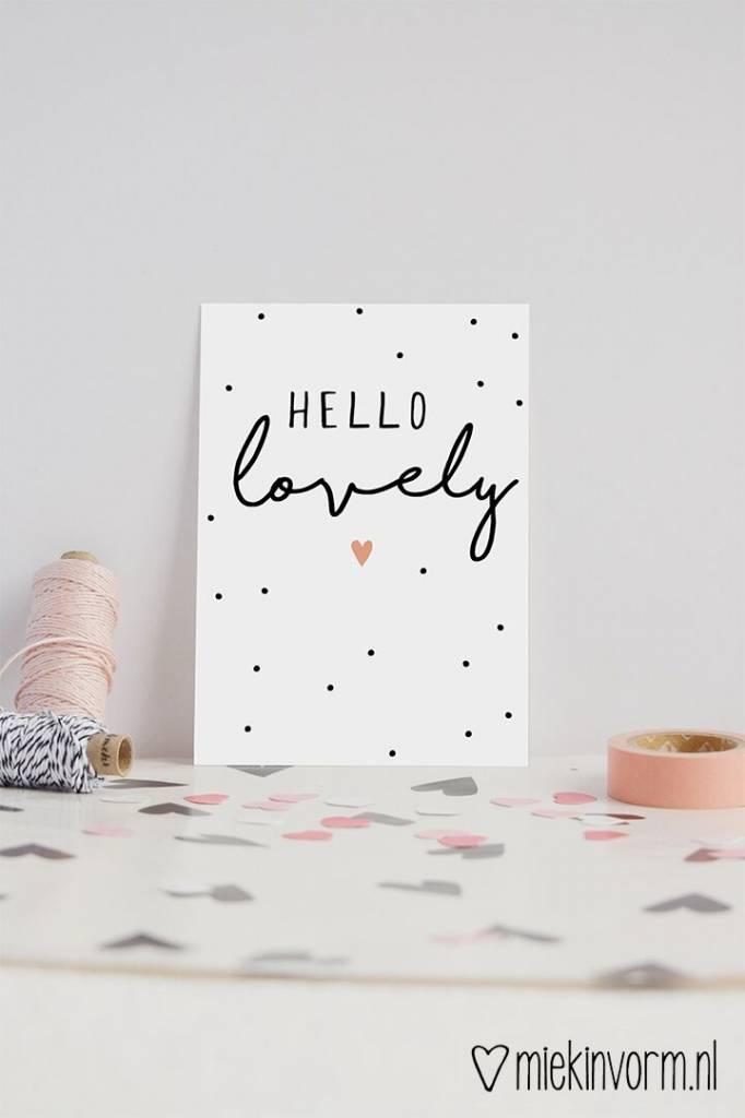Kaart Hello Lovely