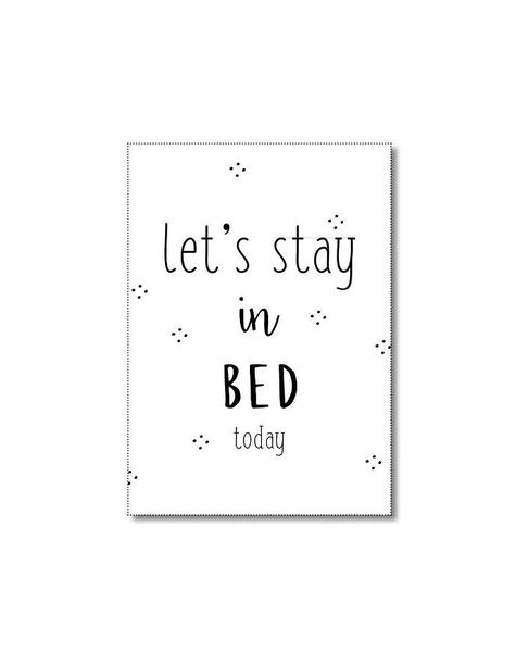 Kaart Let's stay in bed