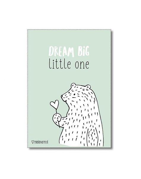 Poster A4 Dream Big