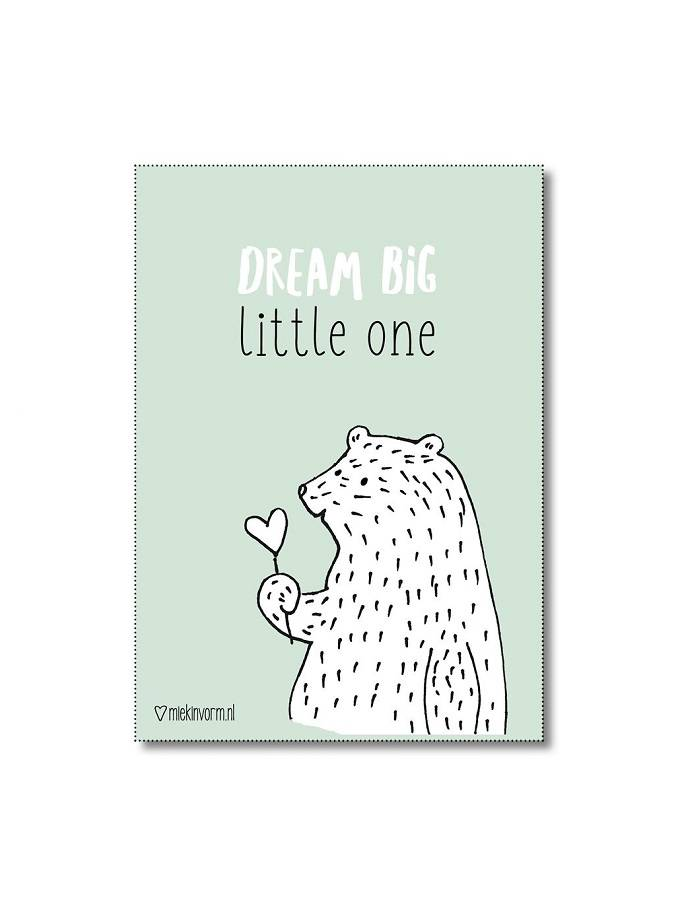 Poster A4 Dream Big