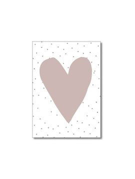 Kaart hart roze