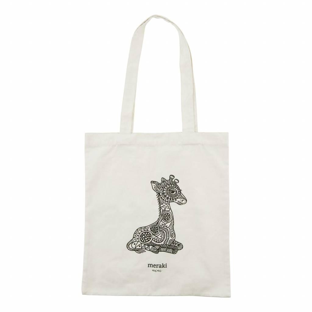 Katoenen draagtas giraffe