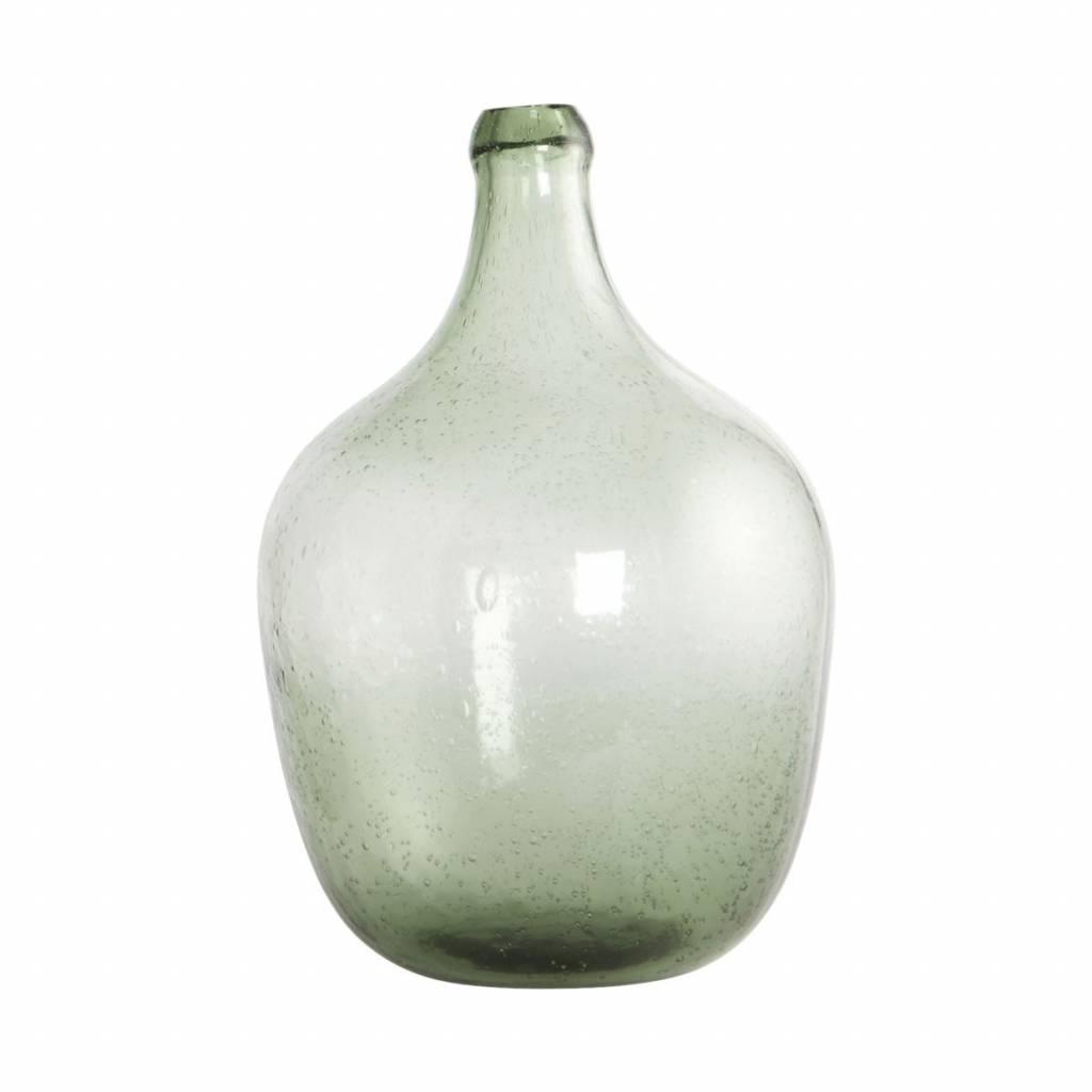 Groene vaas fles