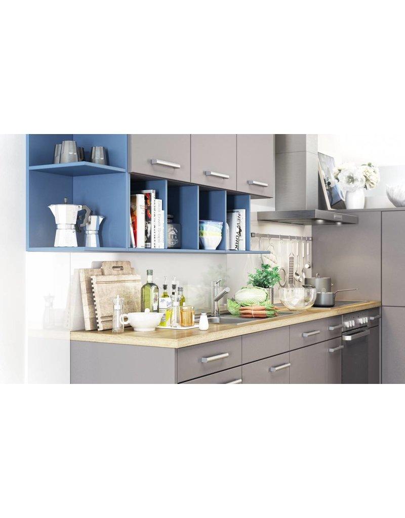 Woonkamer plank wit - Keuken blauw en wit ...