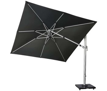 Platinum Deltawing T2 zweefparasol 3x3 m. - Silver/Faded Black