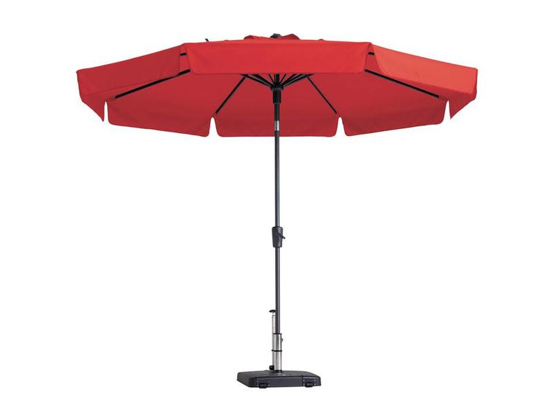 Madison parasol flores luxe 300 cm. polyester red