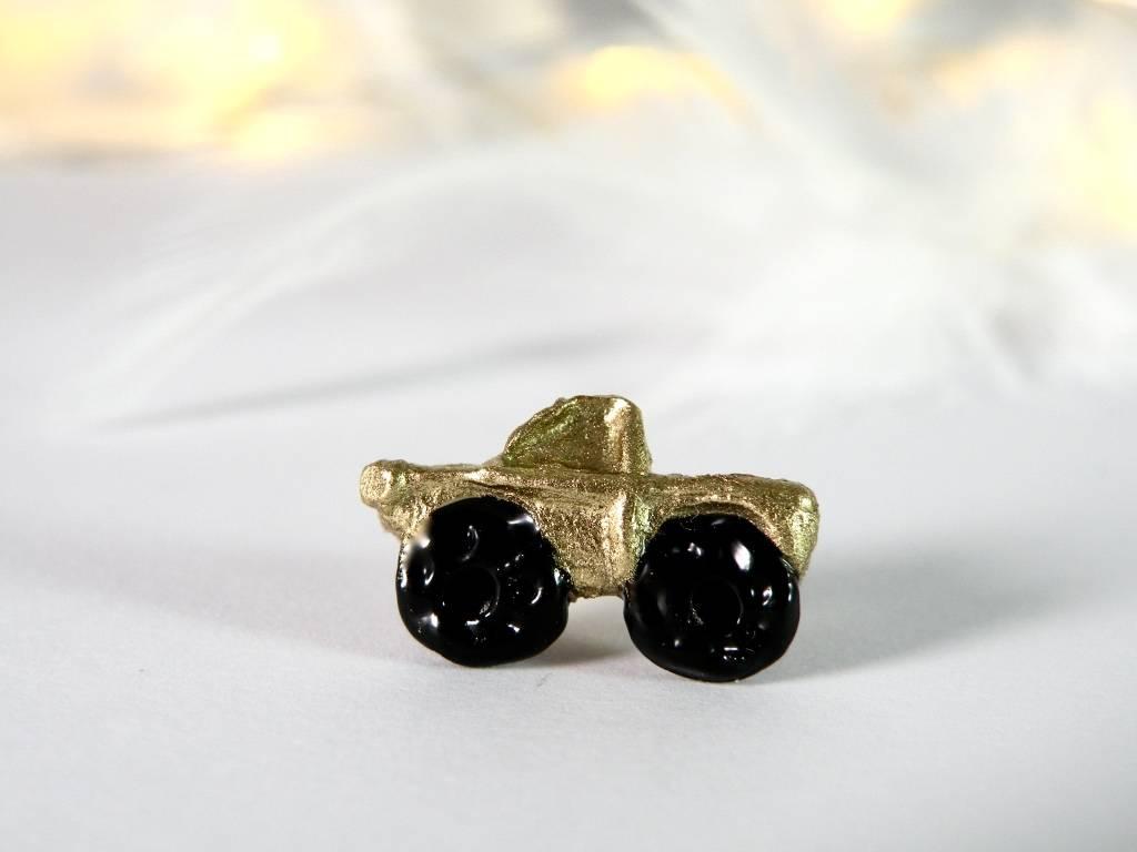 """Cute Clay """"Jo's Monstertruck"""" - Ohrstecker gold - Reserviert für Angi - Copy"""