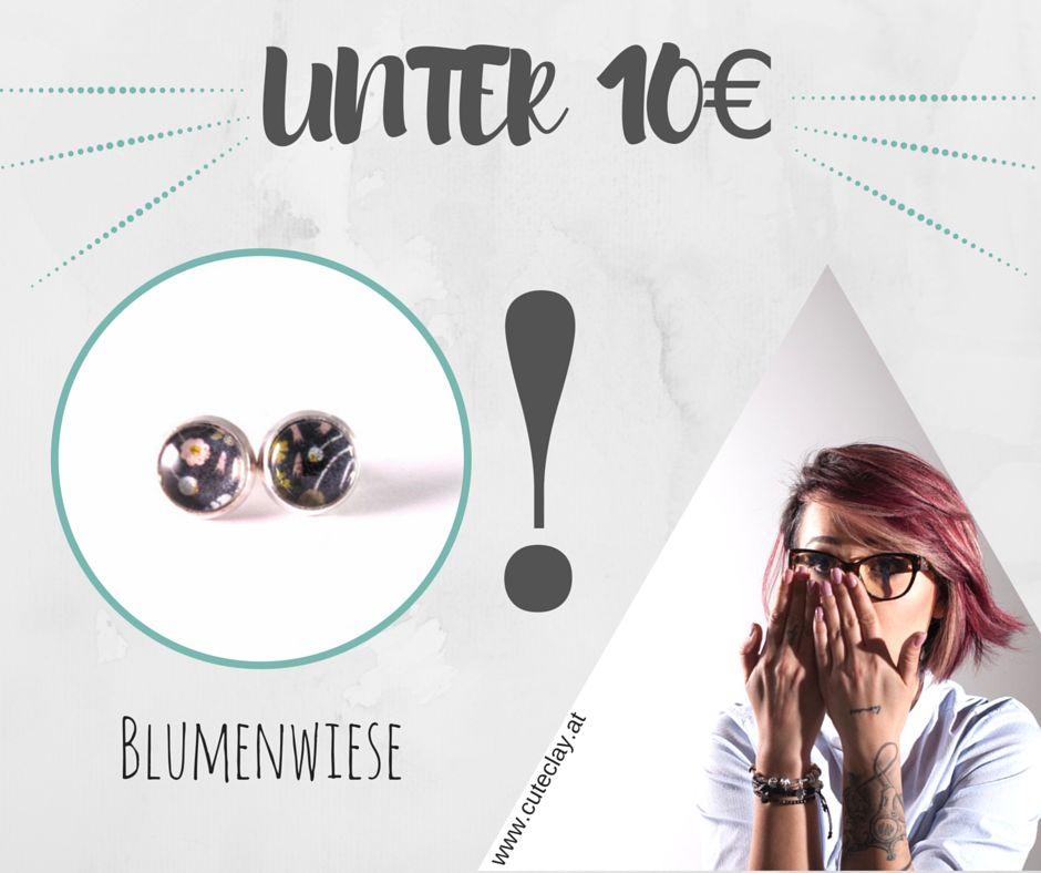 "Cute Clay ""Blumenwiese""- Mini-Ohrstecker"
