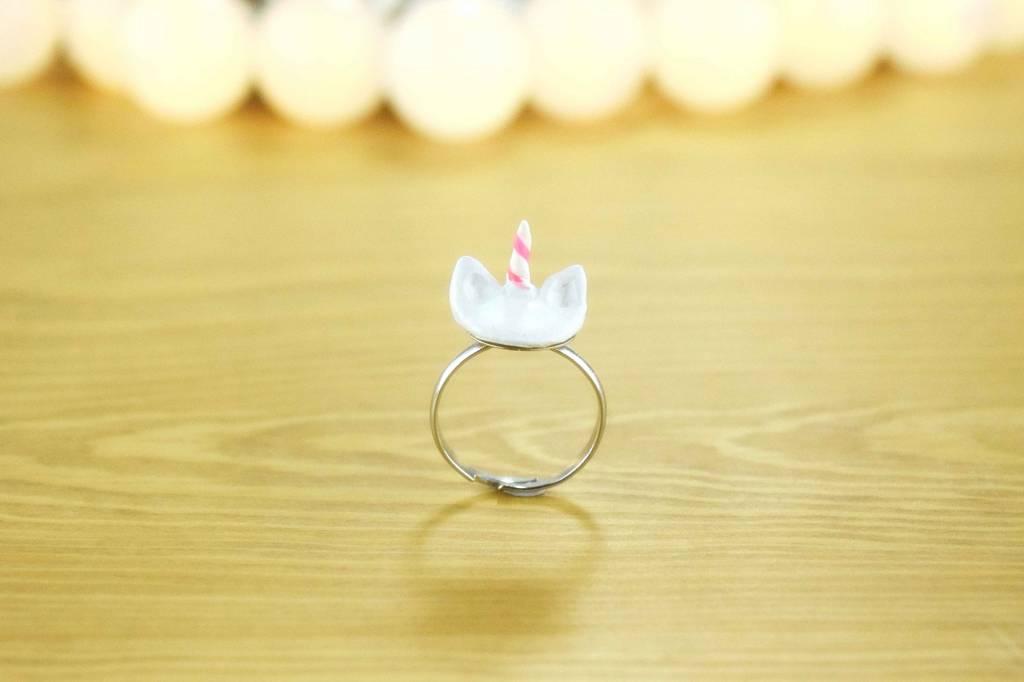 """Cute Clay """"Einhorn""""-Ring"""