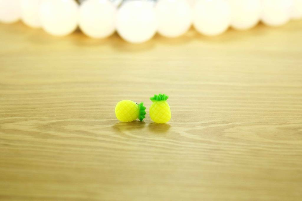 "Cute Clay ""Ananas"" - Ohrstecker"