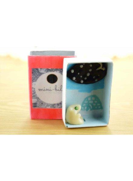 """Cute Clay """"Eisbär unter Sternenhimmel mit Iglu""""- Mini-Bild"""