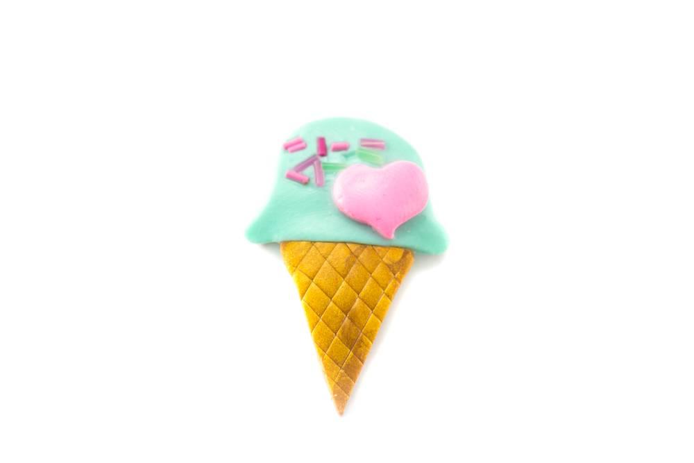"""Cute Clay """"Icecream""""-Brosche"""